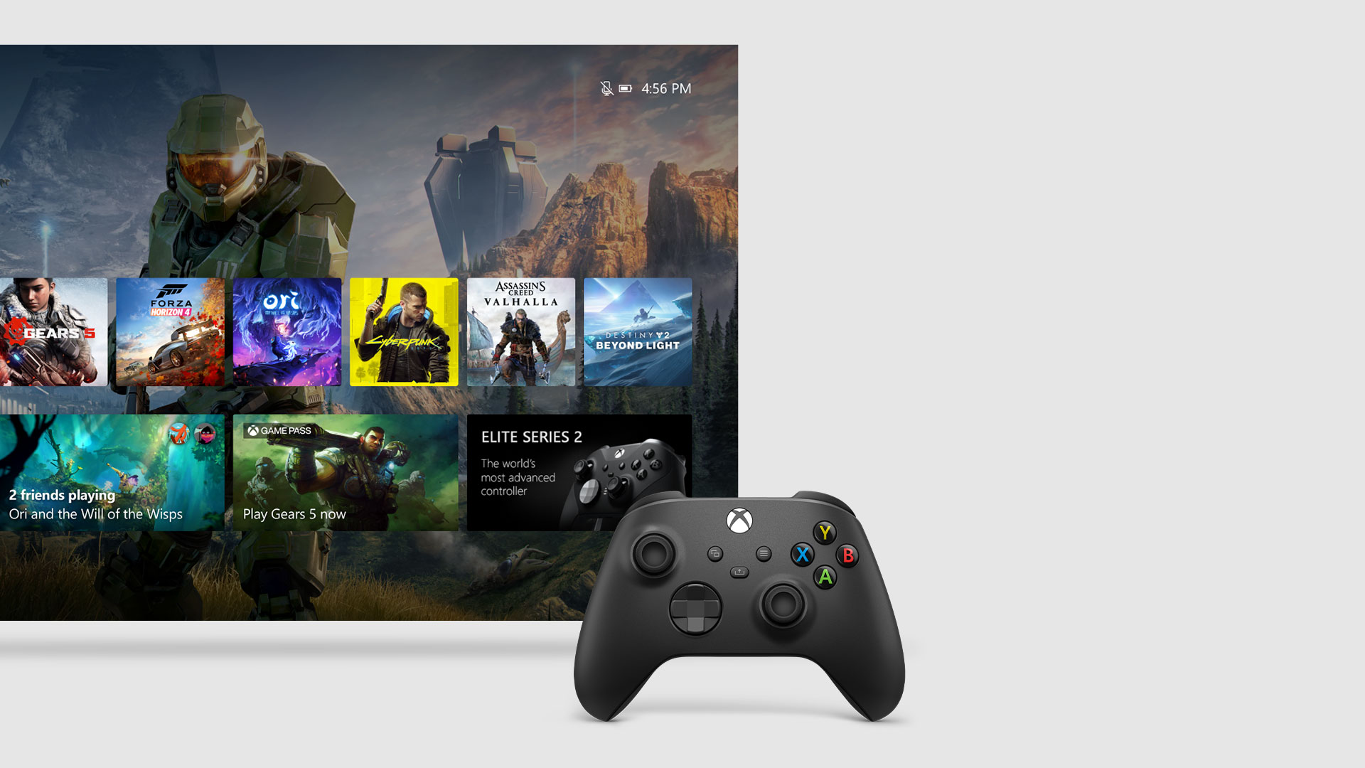 Interfaccia utente del dashboard di Xbox Series X