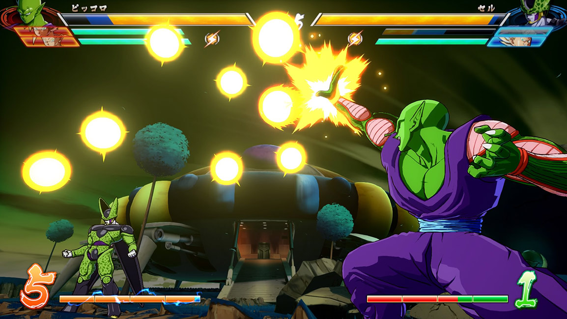 Piccolo blasts Cell