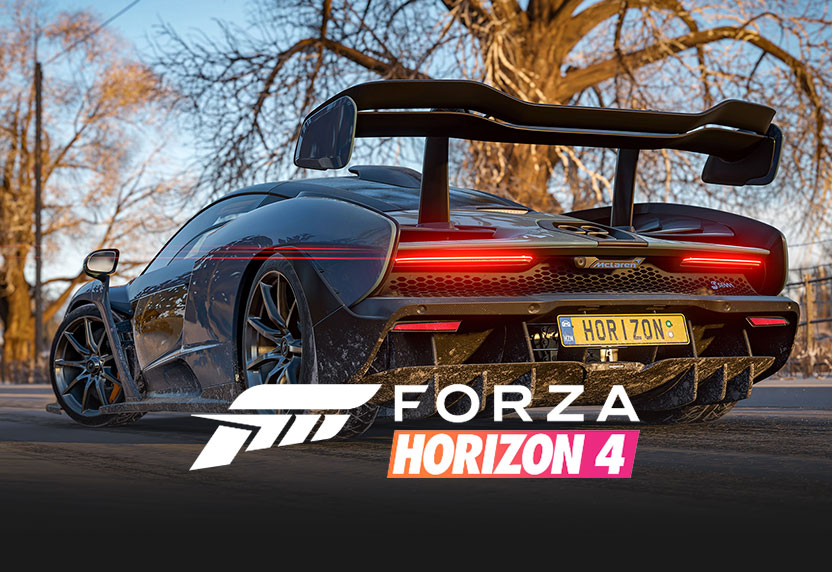Forza Horizon 4 sports car, with game logo, all greyed out.