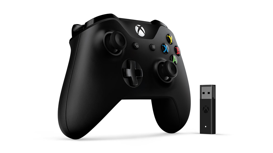 Xbox Controller + Windows 10 Adapter, venstre visning