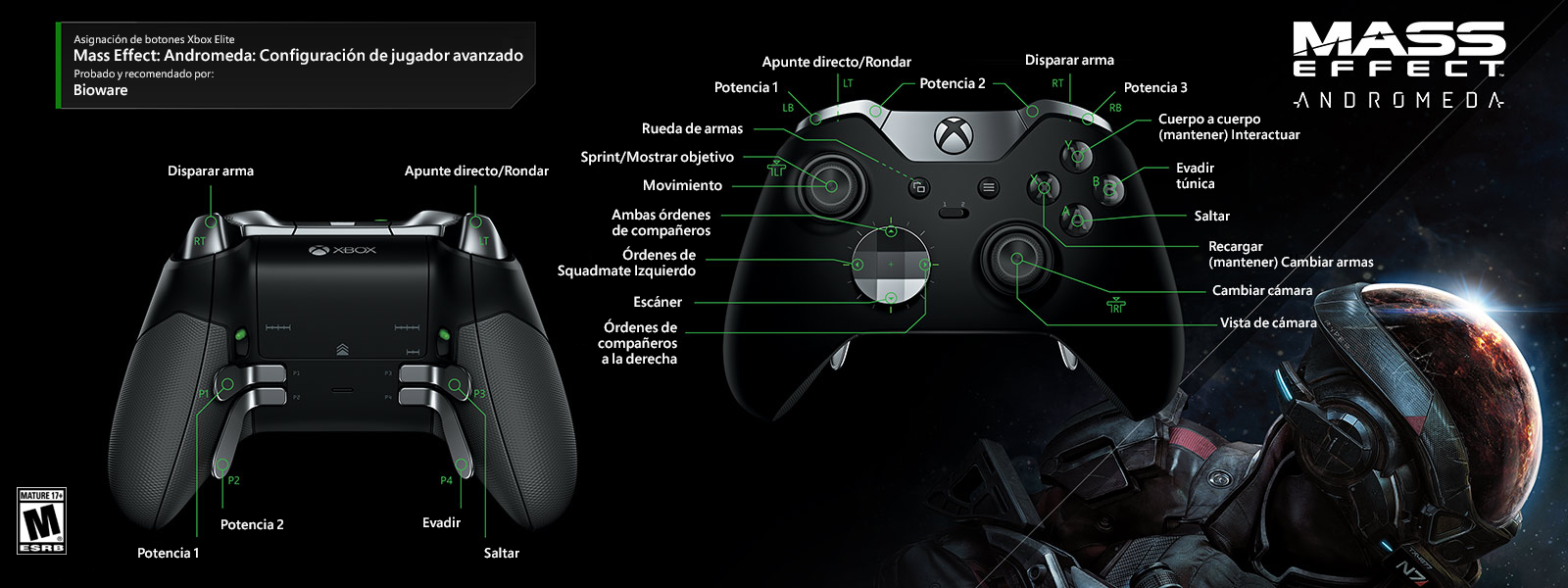 Mass Effect: Andromeda: configuración de jugador avanzado
