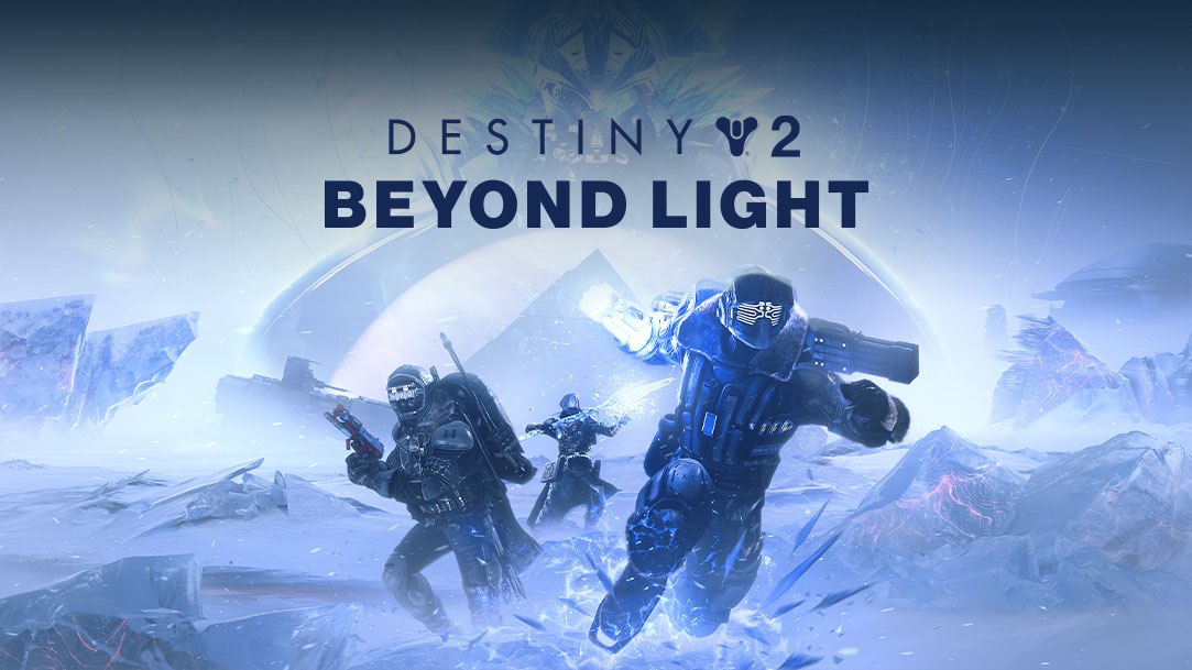 Destiny 2 Beyond Light, 3 guardians use statis powers on an icy tundra