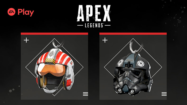 EA Play, Apex Legends, A picture of two helmets facing forward.