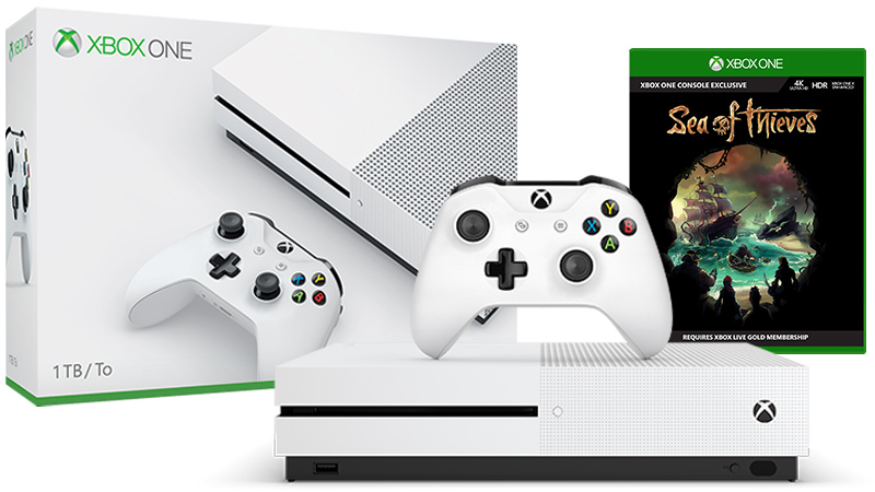 Xbox One S Sea of Thieves 1TB console bundle