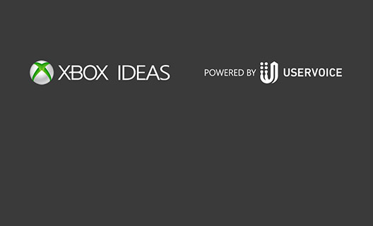 Logo showing the Xbox Ideas logo and text that says 'POWERED BY USERVOICE'