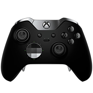 Detail view of Xbox Elite Wireless Controller