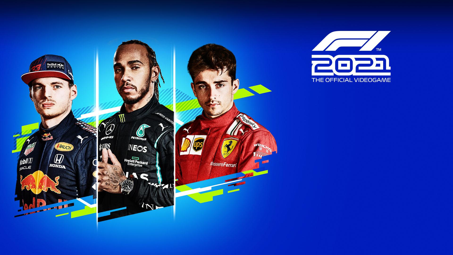 F1 trademark 2021, The Official Video Game, Drei Fahrer treten in ihren Rennoveralls an.
