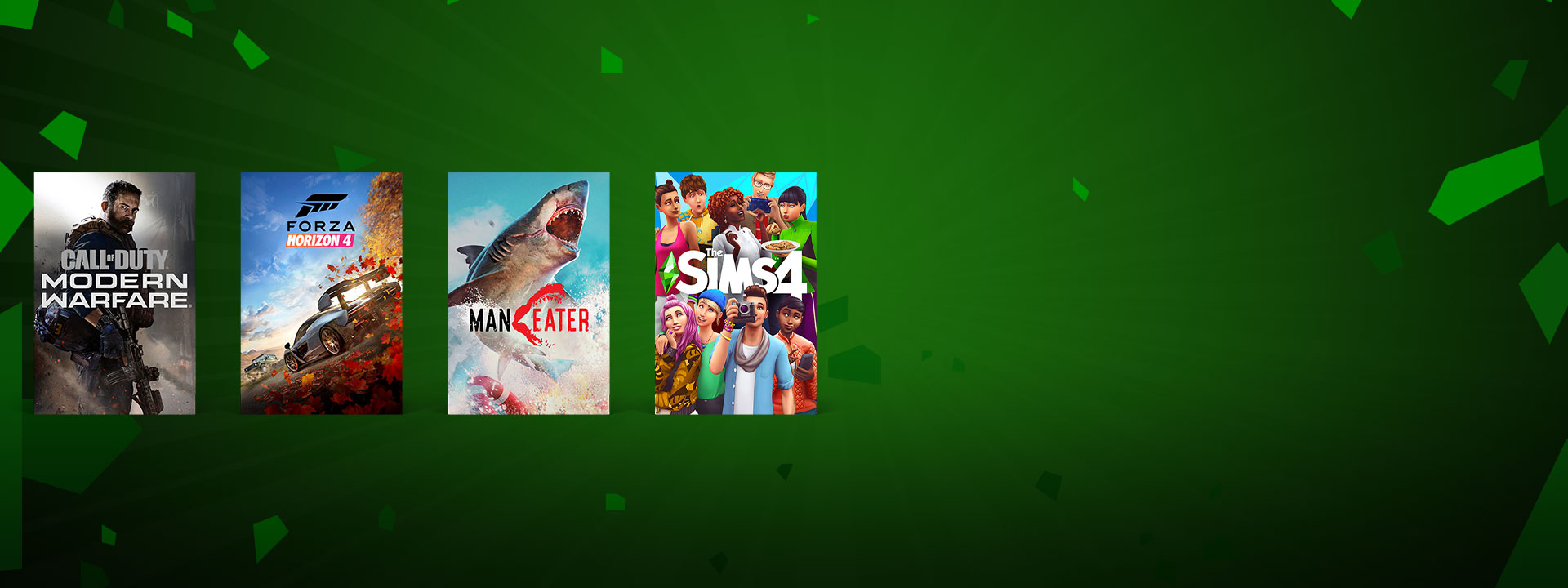 A collage of Xbox games on sale, including Forza Horizon 4 and Call of Duty: Modern Warfare