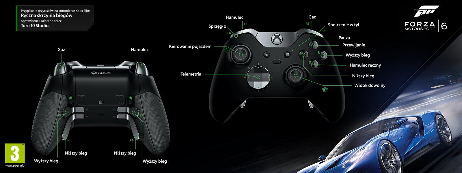 Forza Motorsport 6 – mapowanie Elite pod kątem ręcznej zmiany biegów