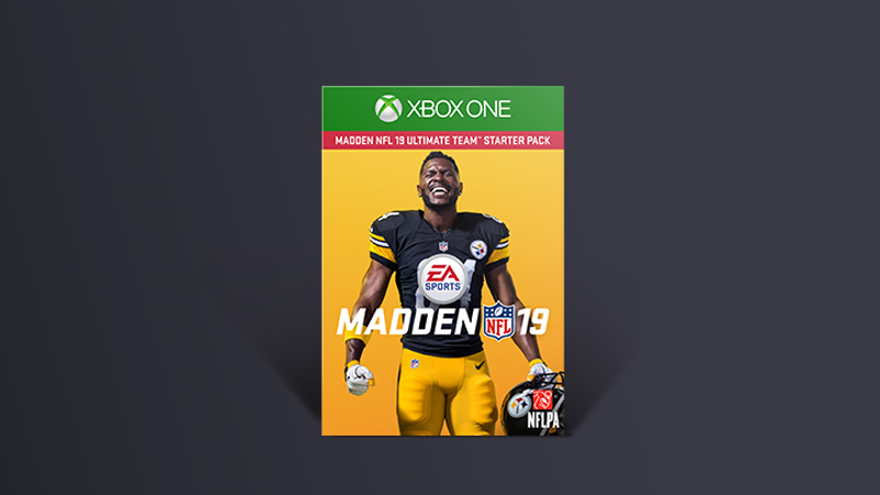 Madden NFL 19 box art that stars Antonio Brown on the cover