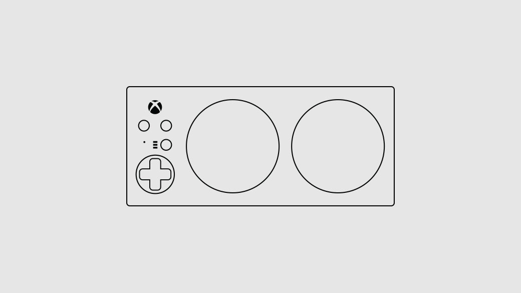 Illustration of the Xbox Adaptive Controller