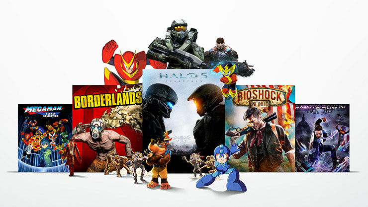 Xbox Game Pass - Collage of games
