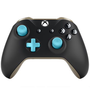 Detail view of Xbox design lab controller