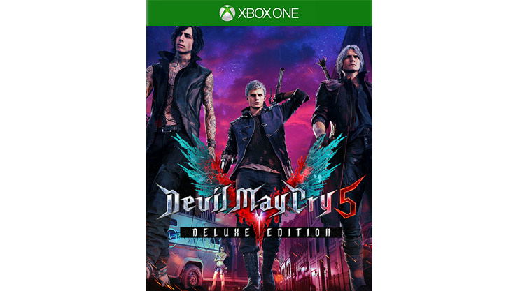 Devil May Cry 5 Deluxe Edition game box shot