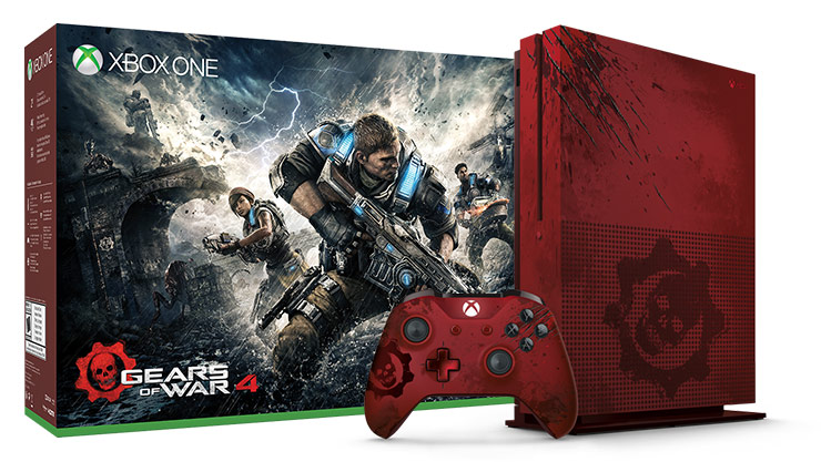 Xbox One S-pakke med Gears of War 4 Limited Edition (2 TB)