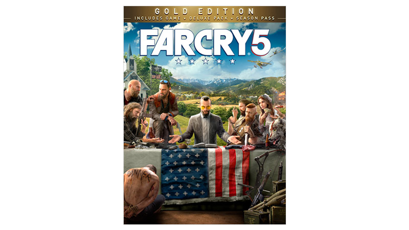 Imagem da caixa do Far Cry 5 Gold Edition