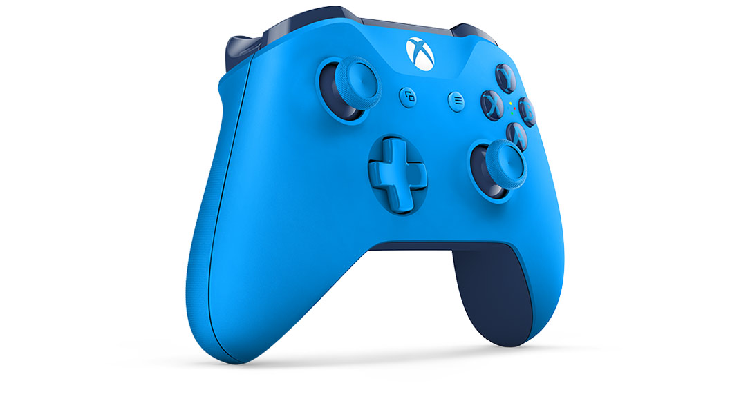 Blue Controller von links