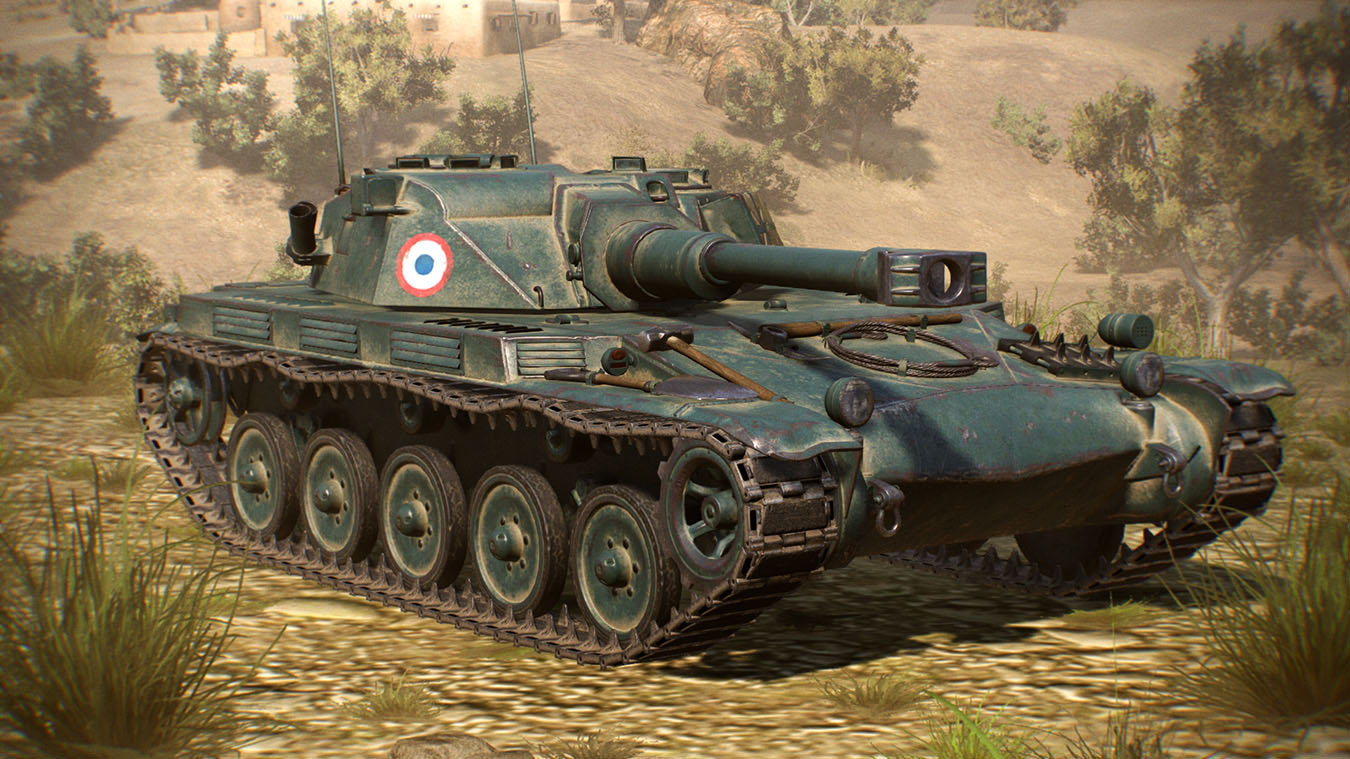 French AMX ELC Light Tank på en bakke