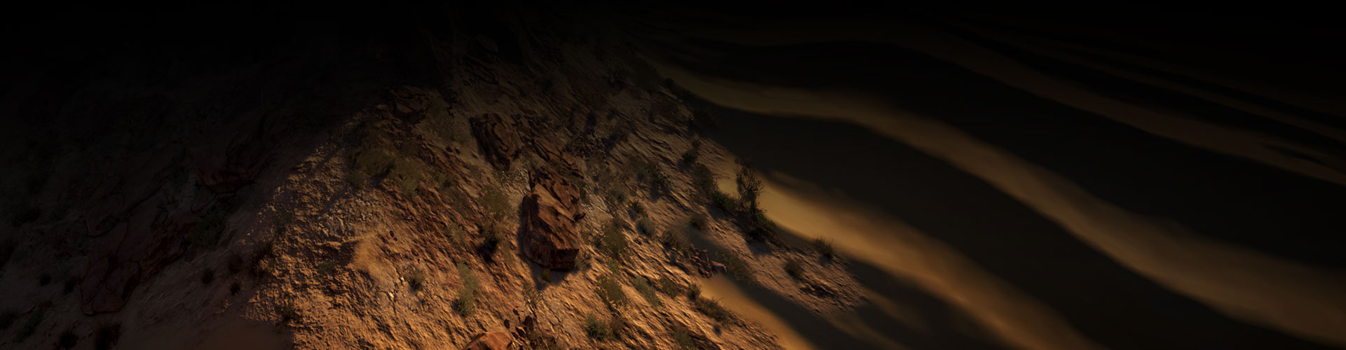Felsige Wüstenhügel