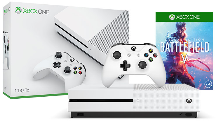 Front view of Xbox One S Battlefield™ V Bundle 1 terabyte