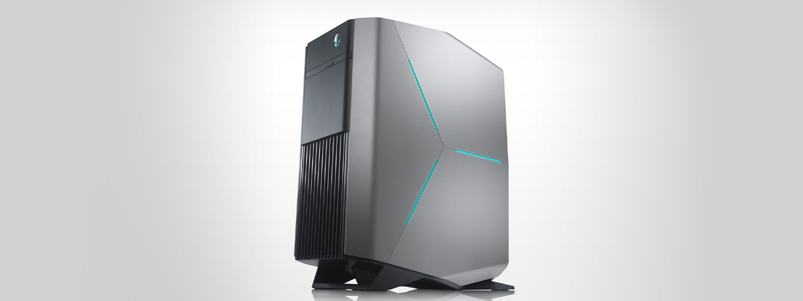 Side view of an Alienware desktop