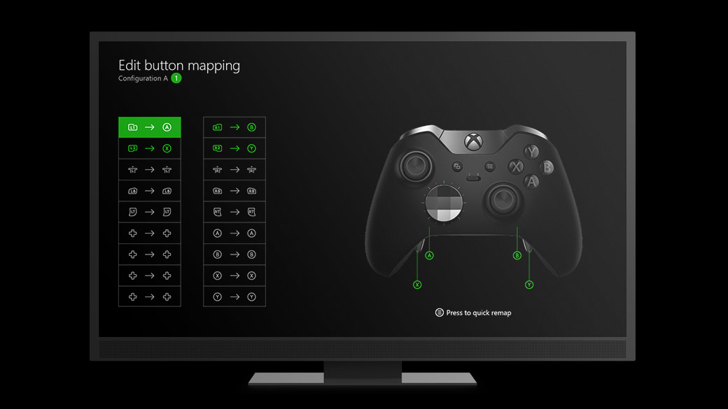 Button mapping op de Xbox Elite controller