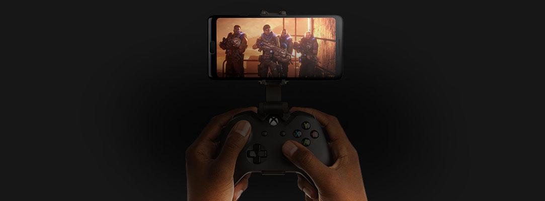 Gears of War 5 op een mobiele telefoon met controller