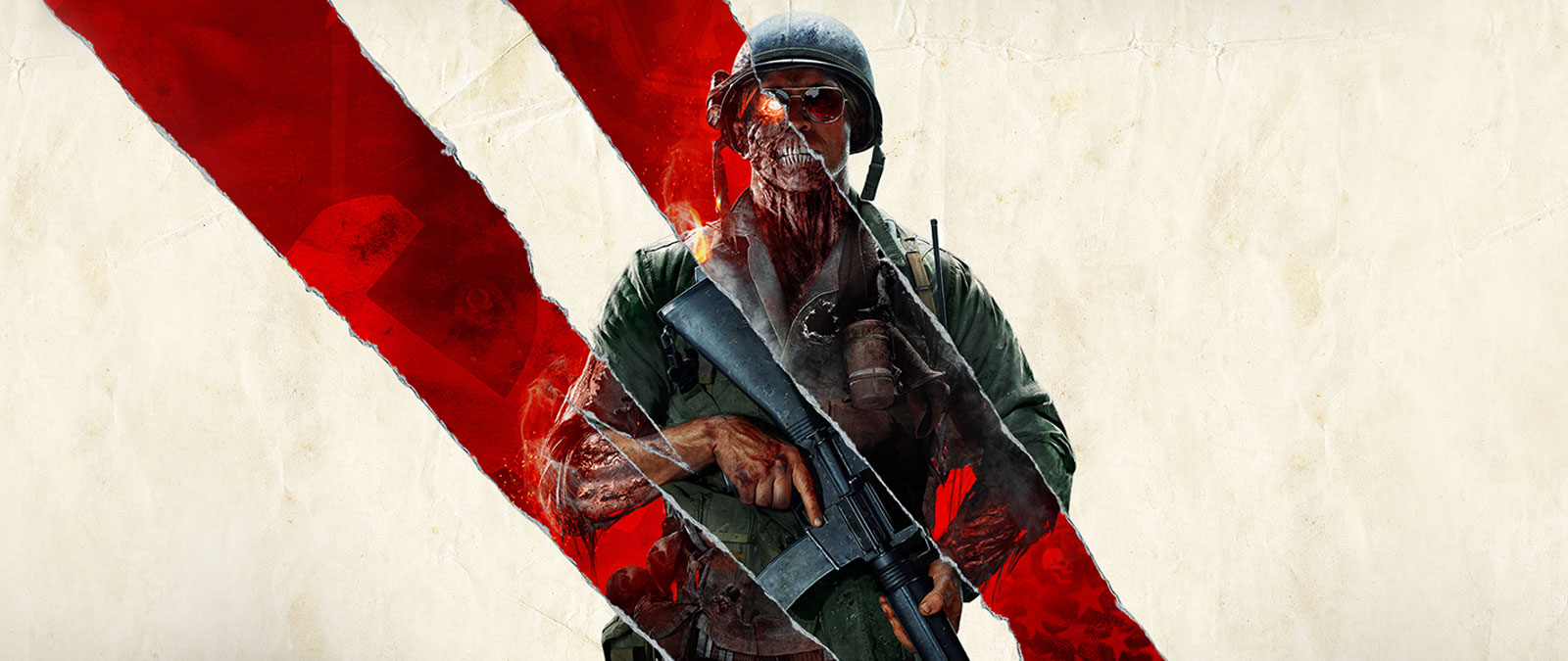 Personnage de Call of Duty: Black Ops Cold War qui est partiellement un zombie