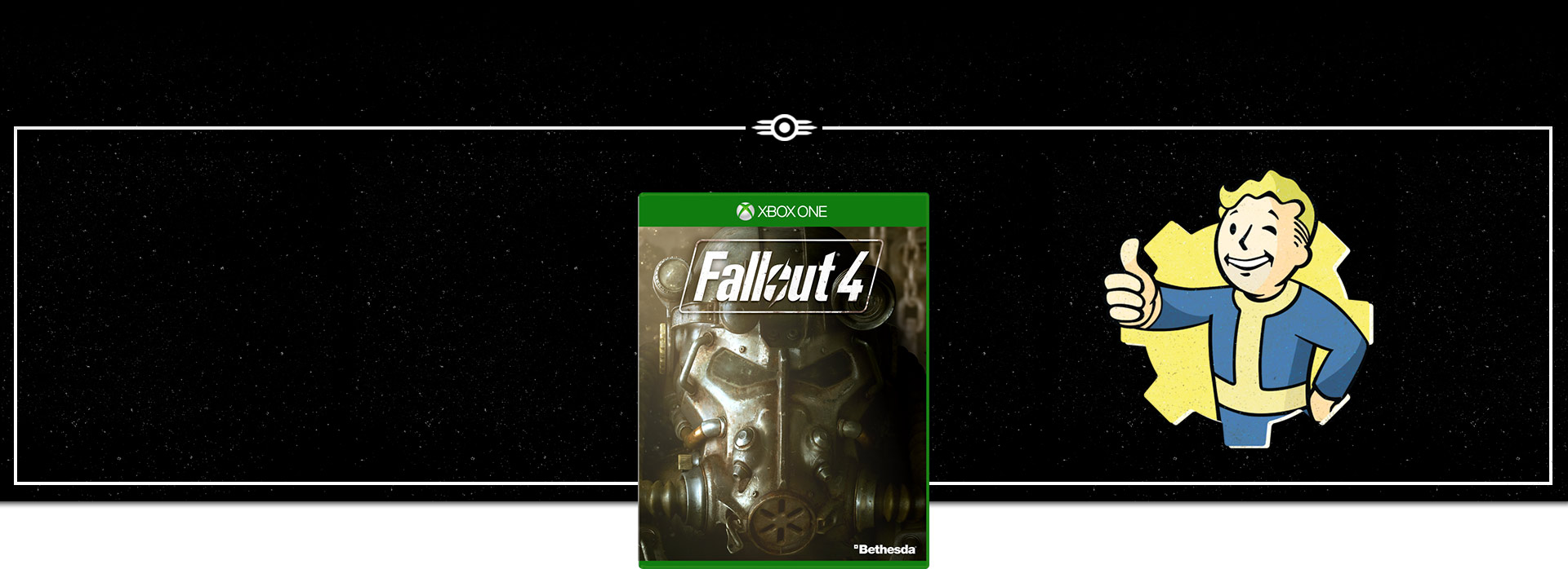 Fallout 4 Boxshot with Pip boy logo