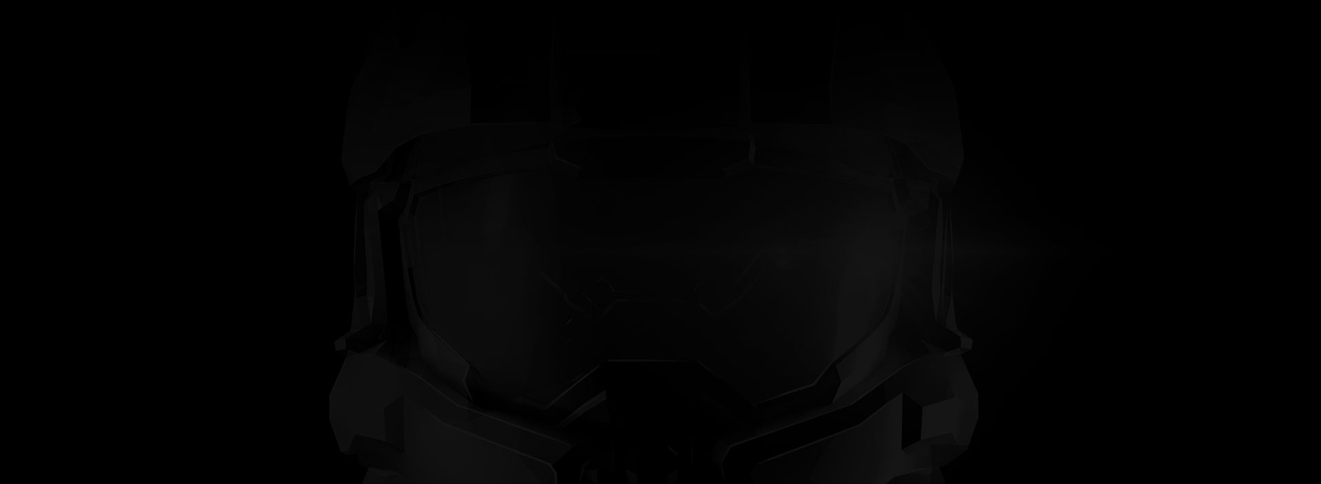 Faint Master Chief helmet silhouette on black background