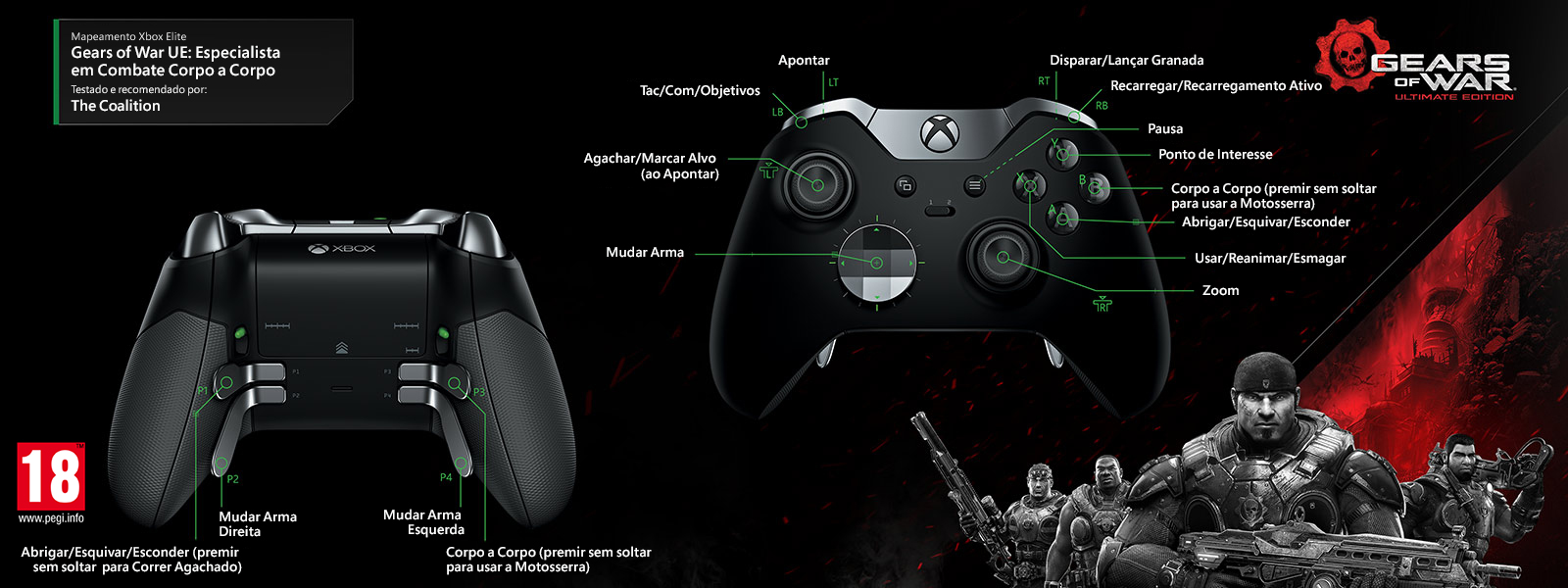 Mapeamento Elite para Gears of Wars Ultimate Edition – Melee Master Multiplayer