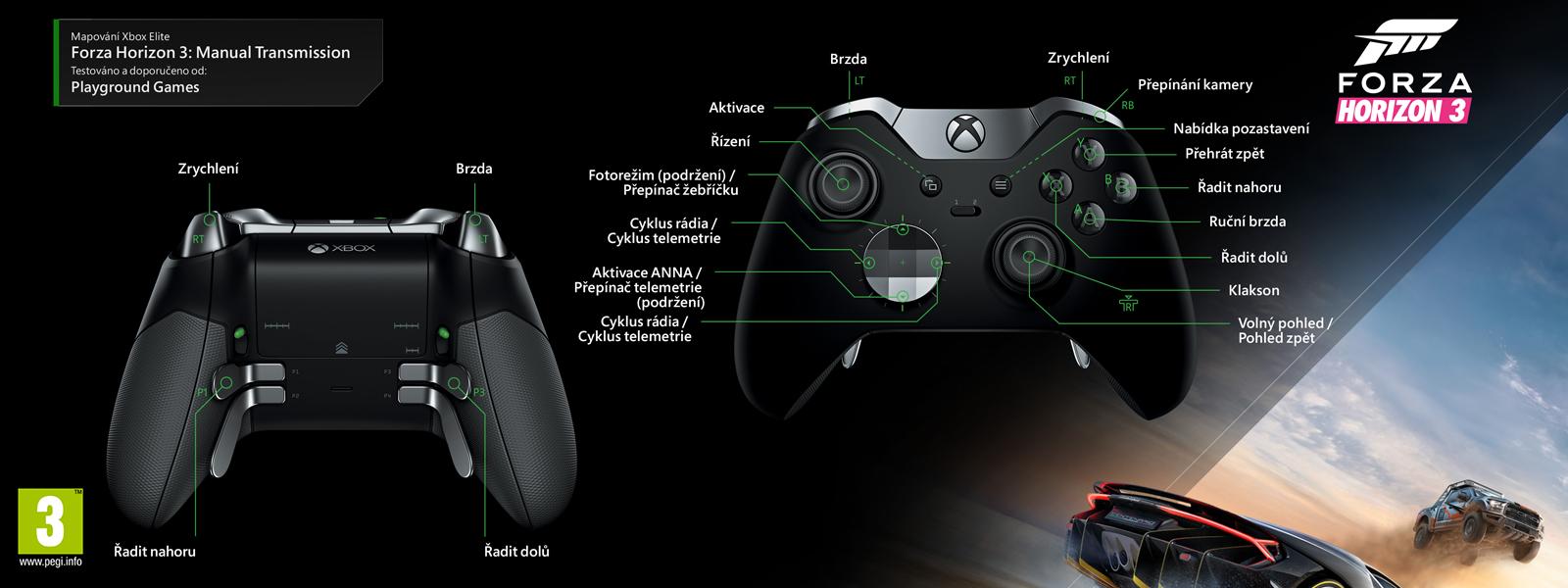 Forza Horizon3 – elitní mapování ruční převodovky