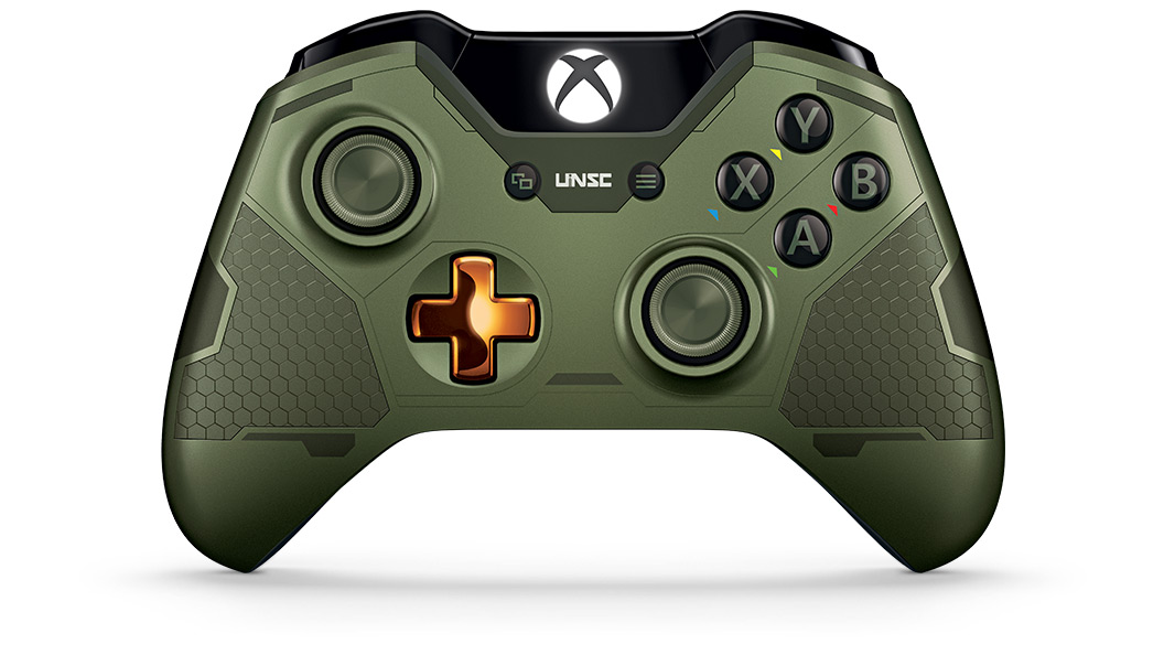 Front view of Halo Master Chief Controller