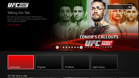 UFC FIGHT PASS page
