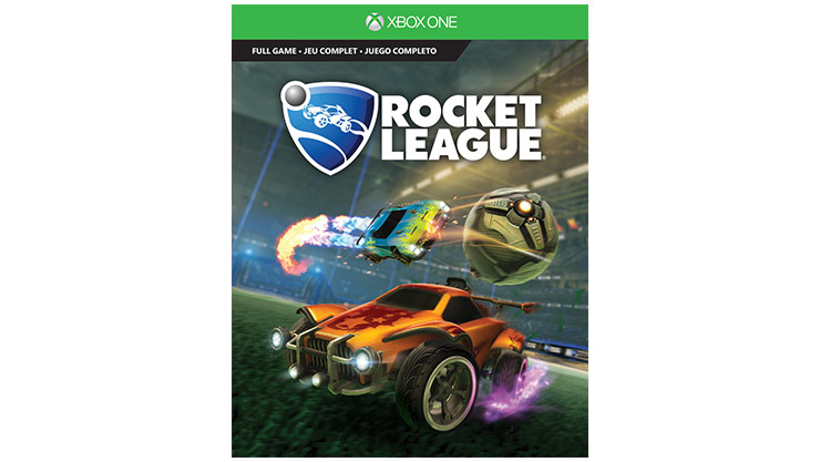 Imagem da caixa do Rocket League