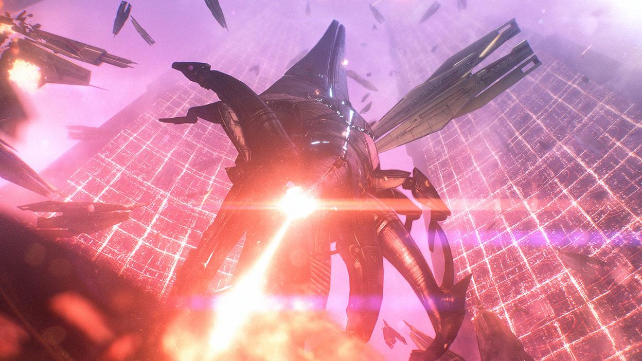 A Reaper blasts a planet