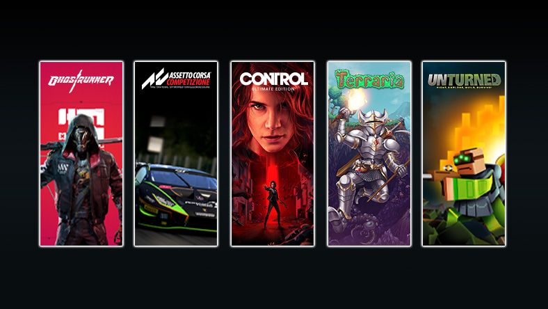 A collection of games that are part of the 505 Publisher Sale, including Control Ultimate Edition, Assetto Corsa Competizione, and Terraria.