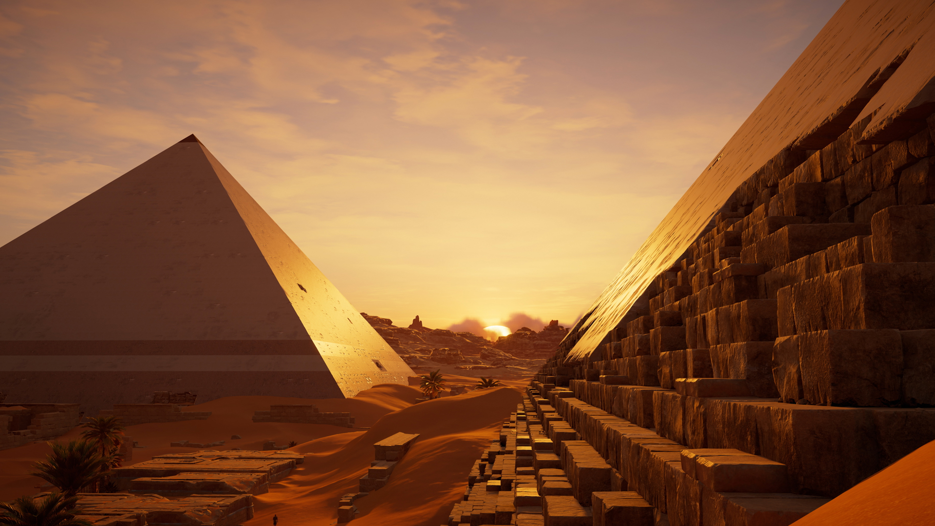 Picture from the game assassins creed. Pyramids of Ghiza