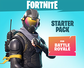 Fortnite Starter Pack for Battle Royale, Top half of character in a Rogue Agent Outfit