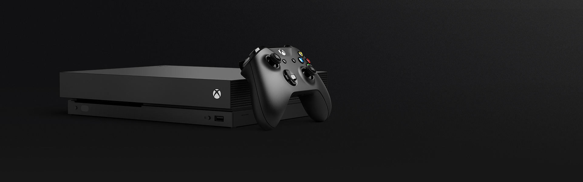 Black Xbox One X and controller