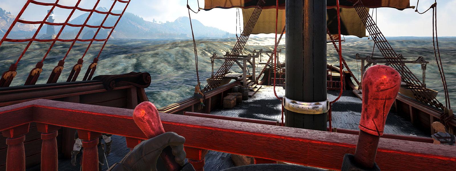 從船陀看向大海的畫面
