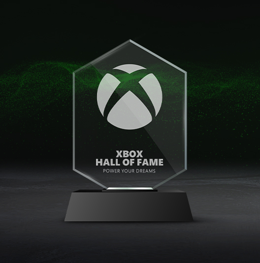 Xbox Hall of Fame collectible trophy.
