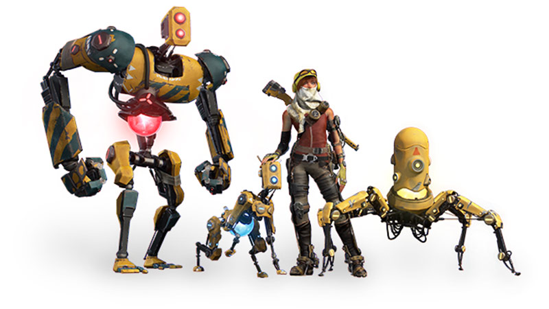 Recore News, Joole, Tank, Seth and Duncan posing