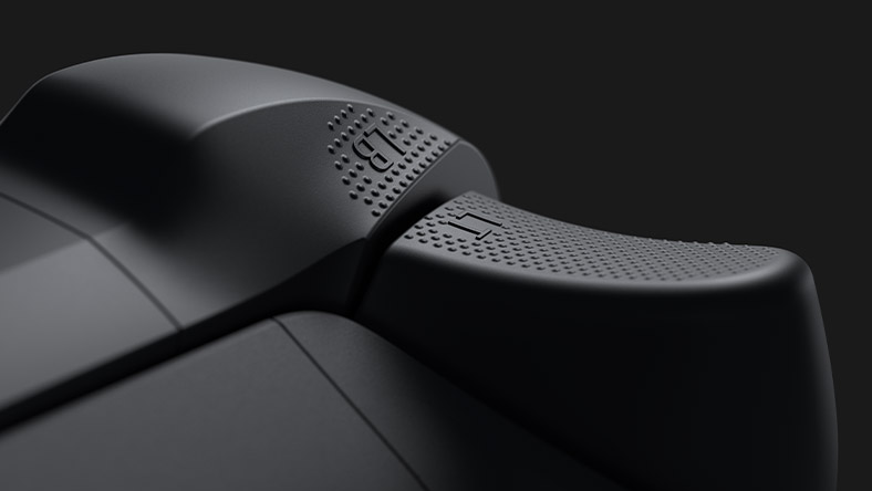 Textured trigger grip on the Xbox Series X controller