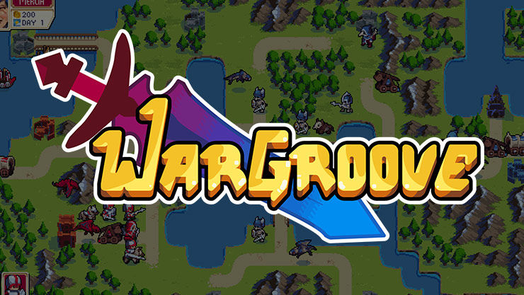 wargroove logo floating over a game map