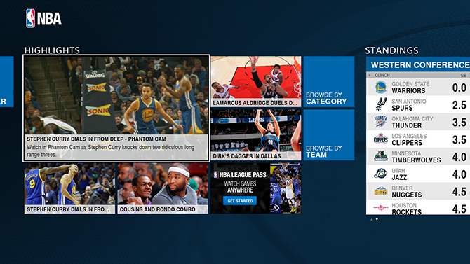 NBA app highlights