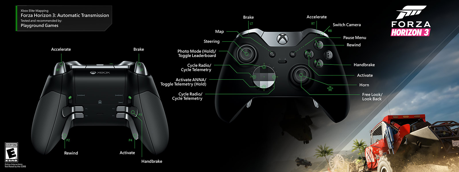 Xbox Elite Wireless Controller One Circuit Diagram 360 Forza Horizon 3 Automatic Transmission Mapping