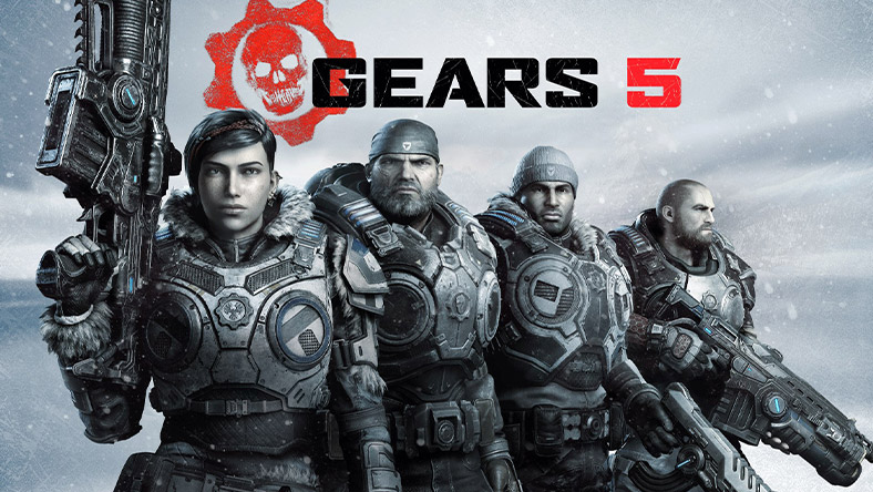 Gears 5 box art.