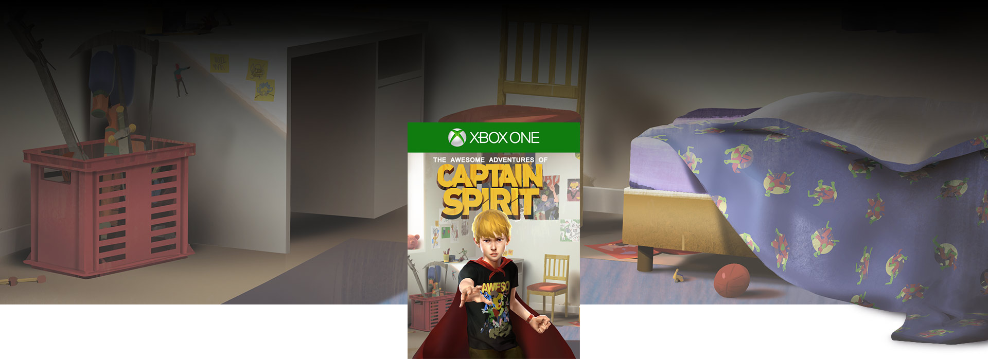 The Awesome Adventures of Captain Spirit boxshot, Background of Chris' bedroom