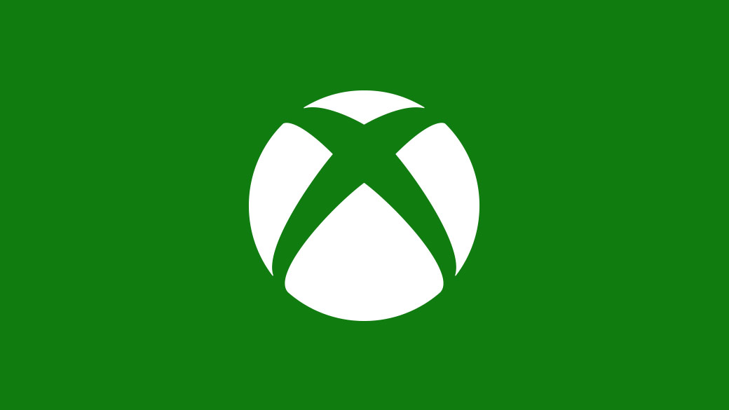 Xbox logo with green background